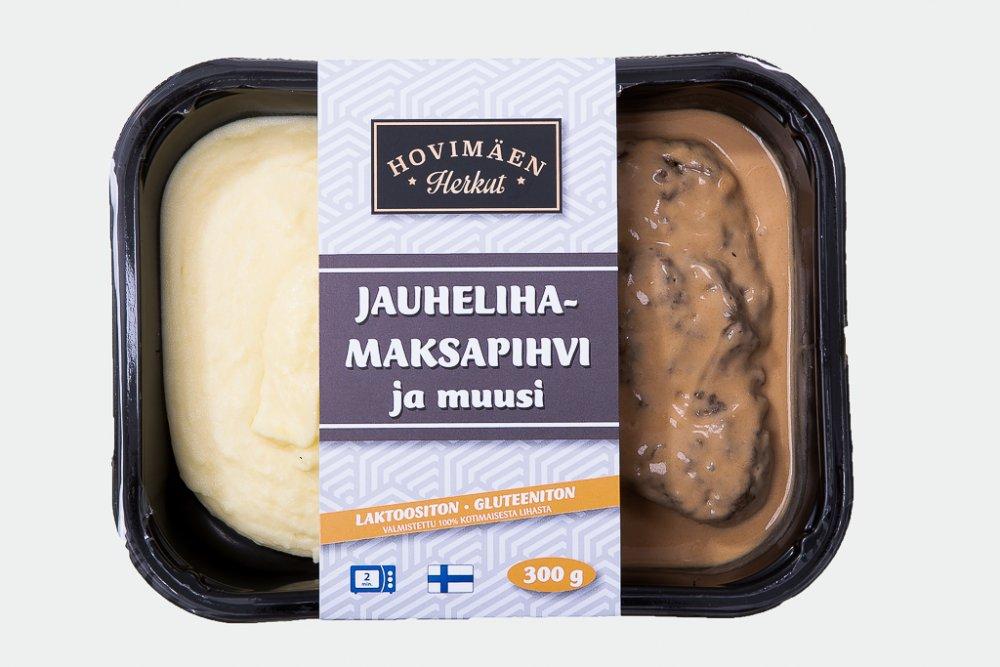 Jauheliha-maksapihvi ja perunamuusi 300g :